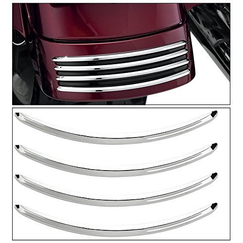 ECLEAR Chrome Rear Fender Accents For Harley Street Glides FLHX Road Glide ()