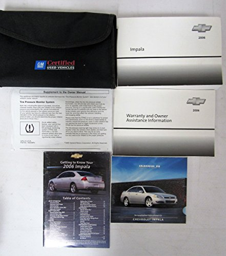 2006 Chevrolet Impala Owners Manual Guide Book