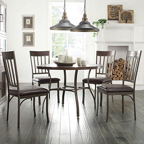 Inspire Q Keyaki Rustic Antique Bronze 5-Piece Oak Dining Set by Classic