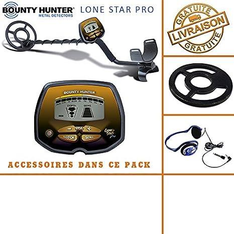 Bounty Hunter - Detector de Metales Lone Star Pro con Protector de Disco y auriculares: Amazon.es: Bricolaje y herramientas
