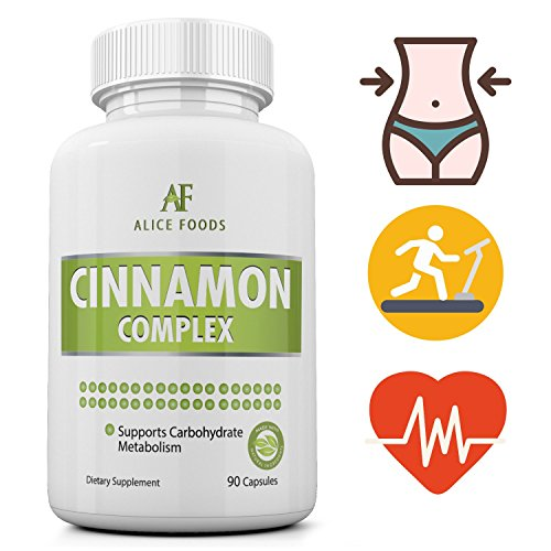 Cinnamon Complex to Support Balanced Blood Sugar Levels, Heart Health, Support A Healthy Weight, and Maintain Joint Mobility - 1000mg per capsule - 90 - Blood Sugar Regulator