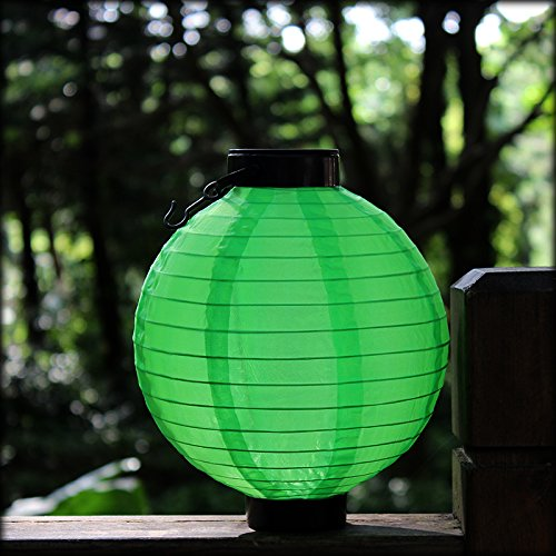 Frestree-Solar-Powered-Waterproof-LED-Lights-Bulb-Flameless-Hanging-Chinese-Nylon-Fabric-Lantern-for-Halloween-Christmas-Wedding-Outdoor-Lawn-Garden-Patios-Backyards-Landscape-Decoractions2pcsGreen