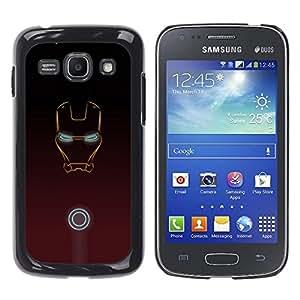 A-type Arte & diseño plástico duro Fundas Cover Cubre Hard Case Cover para Samsung Galaxy Ace 3 (Hierro Superhero Pintura)