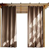 OVER ALL      Impress your friends, family and guests with NICETOWN Ready Made Indoor /Outdoor Solid Grommet Top Curtain Panels.   These simple yet elegant panels are a nice finishing touch to any outdoor extension of your home.        FEATUR...