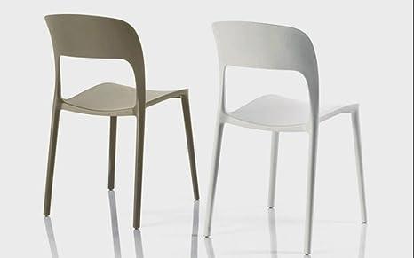 Bontempi set di sedie gipsy impilabile in polipropilene sabbia