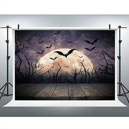 Maijoeyy 7x5ft Night Moon Photography Backdrops Halloween Spooky Backdrop for Photos Background Studio Prop YZC-721015375-D1