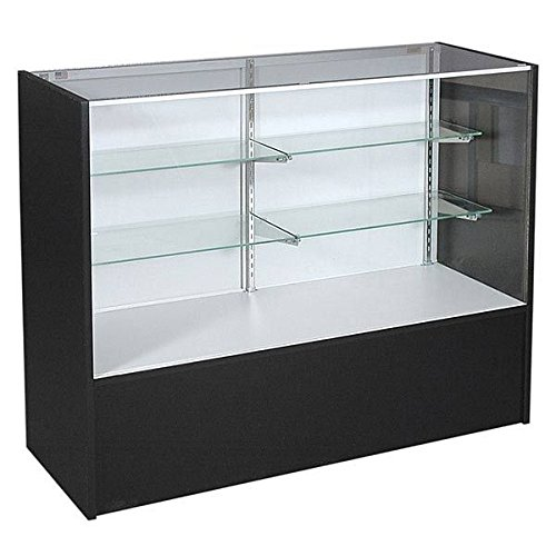 """48"""" Black Display Case - Full Vision Showcase Ready to Assemble by Only Garment Racks"""