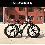 Adulto Uomini Fat Tire elettrica Mountain Bike, Biciclette da Neve 350W, Portatile 10Ah Li-Battery Beach Cruiser…
