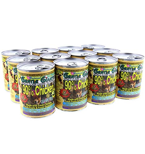 Gentle Giants All Natural Dog Food, 12 Pack - Canned Chicken Wet Dog Food with Grain-Free, Non GMO Ingredients - World Class Canine Cuisine - Complete Nutrition For Small, Medium, Large and Giant Dogs