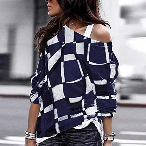 Lache Manches Tunique Tops Femmes shirt V Leopard De Poche Col Navy Haut Darringls Bloc Chemise T Avec Blouse Longues Casual Couleur Asymétrique Patchwork Chic En qRUfxntwv