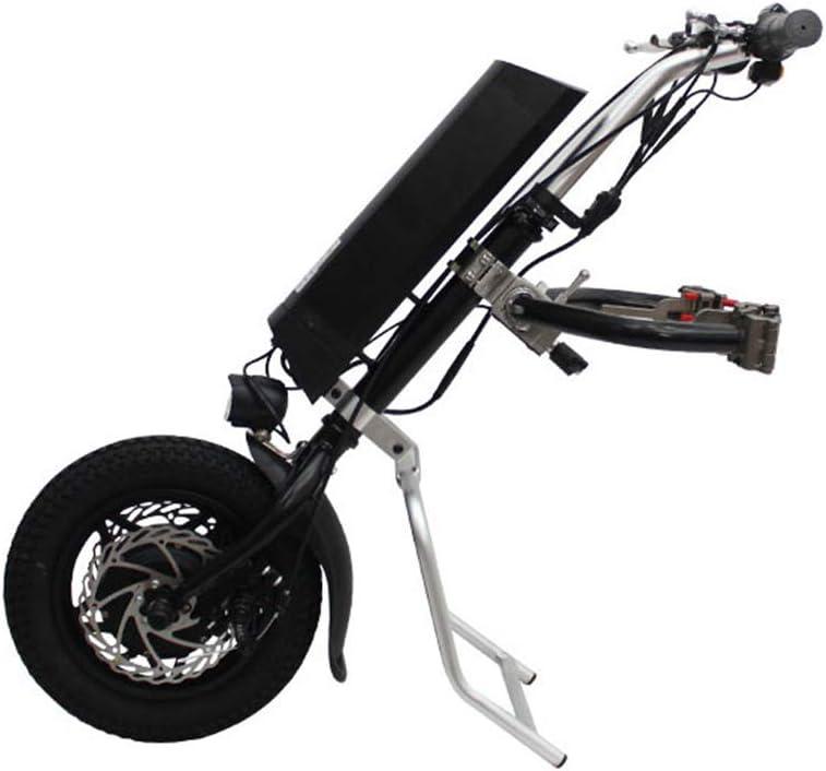 Urcar 12inch 36V 250W Tractor de Silla de Ruedas eléctrica Handcycle Handbike DIY Kits de conversión de Silla de Ruedas eléctrica Cabezal de accionamiento para automóvil discapacitado