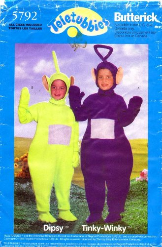 Amazon Butterick 5792 Sewing Pattern Childrens Tinky Wink Dipsy