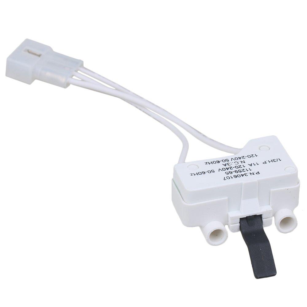 RDEXP Plastic WP3406107 Dryer Door Switch for 3406109 AP312865 AP6008561 PS346704 PS11741701 Whirlpool Dryer Replacement Part