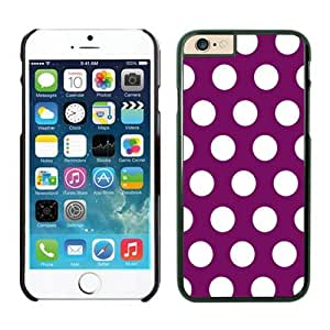 Iphone 6 Plus Case 5.5 Inches, Polka Purple and White Dot Black Phone Protective Speck Cover Case for Apple Iphone 6 Plus Accessories by supermalls