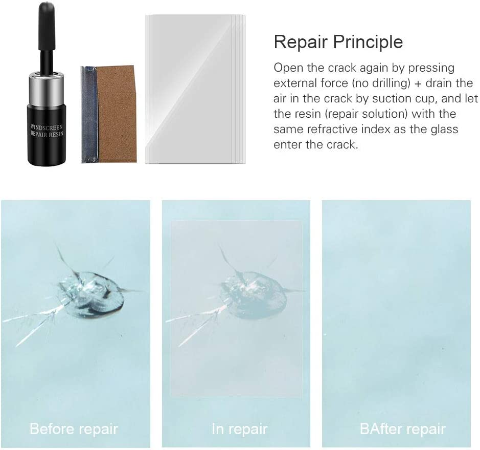 Glass Scratch Repairer For Car Windshield Chip Repair Tools Auto Windshield Repair Tool Black DANQI Glass Repair Fluid