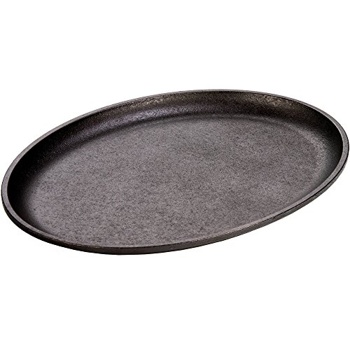 Lodge Best 10 Inch Cast Iron Oval Serving Platter Griddle Skillet Pan Cookware