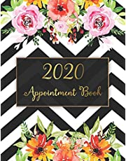 2020 Appointment Book: Appointments Notebook for Salons, Hairdressers, Spa and nail Hourly Planner year calendar 2020 Daily for Time 15 Minute Increment with tab (Hour Appointment Book 2020)