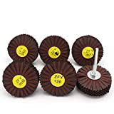 "2PC 1/4""Shank Abrasive Cloth Wheel Interleaved"