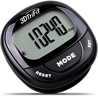 official photos buying now pre order Realalt 3DTriFit 3D Pedometer Activity Tracker | Accurate Pedometer for  Walking with Pause Function & 7-Day Memory