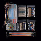 Keywishbot Electronic Component Base Fun Kit Bundle with Breadboard Cable Resistor,Capacitor,LED,Potentiometer for Arduino Development Board R3,MEGA2560, Raspberry Pi