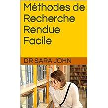 Méthodes de Recherche  Rendue Facile (Made Easy) (French Edition)