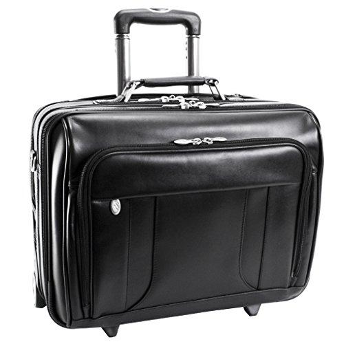 McKlein Lasalle 83405 R Series Leather 17-Inch Wheeled La...