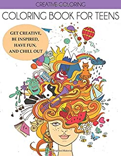 Amazon Com Coloring Book For Teens Or Adults Stress Relief