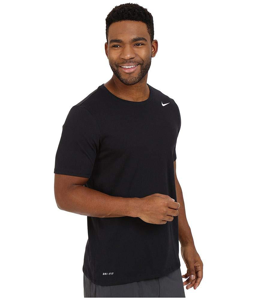 NIKE Men's Dri-FIT Cotton 2.0 Tee, Black/Black/White, Small by Nike (Image #6)