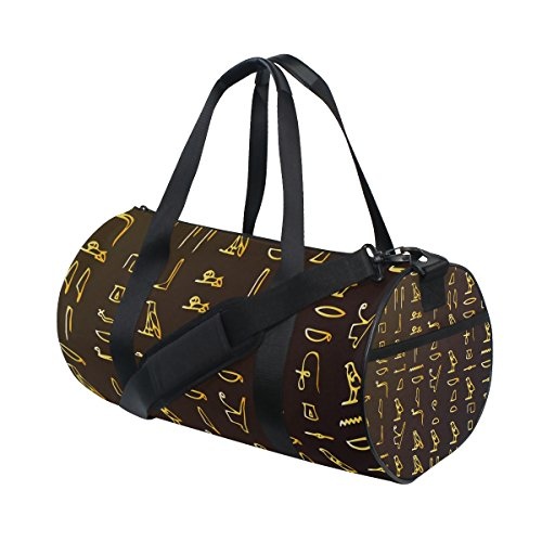 Egyptian Decor Travel Duffel Shoulder Bag, Sports Gym Fitness Bags ()