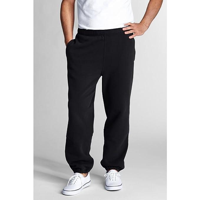 0f25a87a47adbc Lands' End Men's Regular Serious Sweat Pants, L, Black: Amazon.ca ...