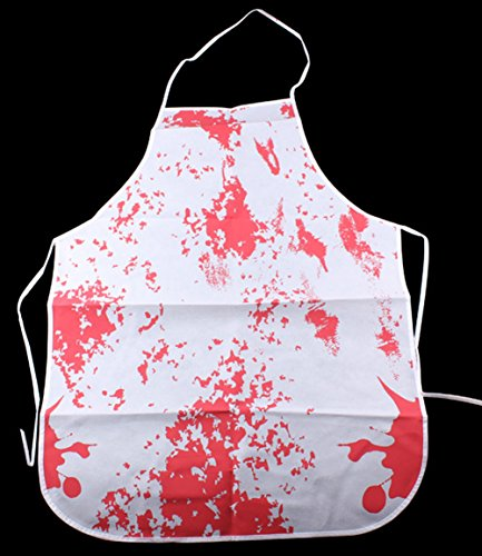 Halloween Horror Novelty Apron Artfen Bloody Murder Halloween Party Apron Bloody Apron Family Butcher (Bloody Butcher Costume)