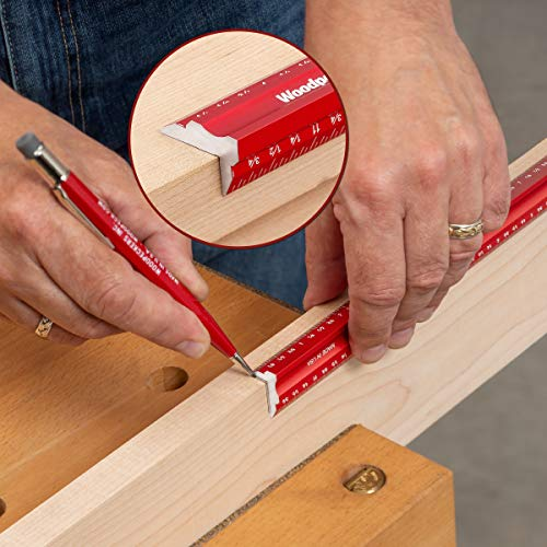 Woodpeckers Woodworkers Edge Rule Set - Inch