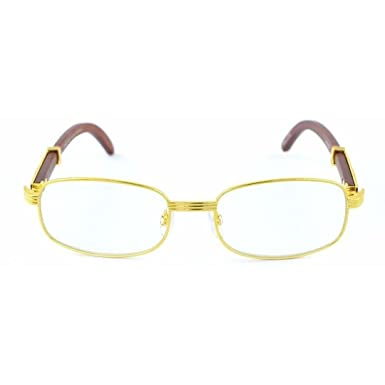 52963559c9 Amazon.com  Jgny - Sawmill Wooden Glasses Gold Frame REAL WOOD Migos ...