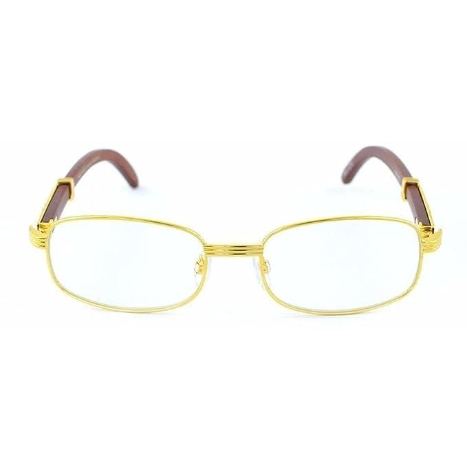 Amazon.com: jgny – Aserradero anteojos de madera marco de ...