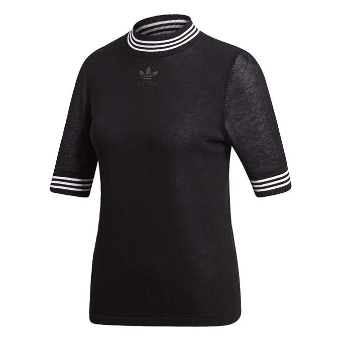 adidas T-Shirt - T-Shirt Black/White: Amazon.co.uk: Clothing