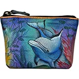 Anuschka Women's Coin Pouchdolphin World Purse, Dolphin, One Size