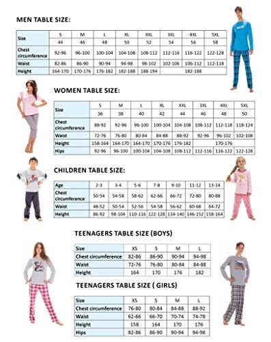Luna Herren Schlafanzug Authentic, sportliches 2-Teiliges Pyjama Set, Top Qualität, ideal als Geschenk, made in EU, Gr. M