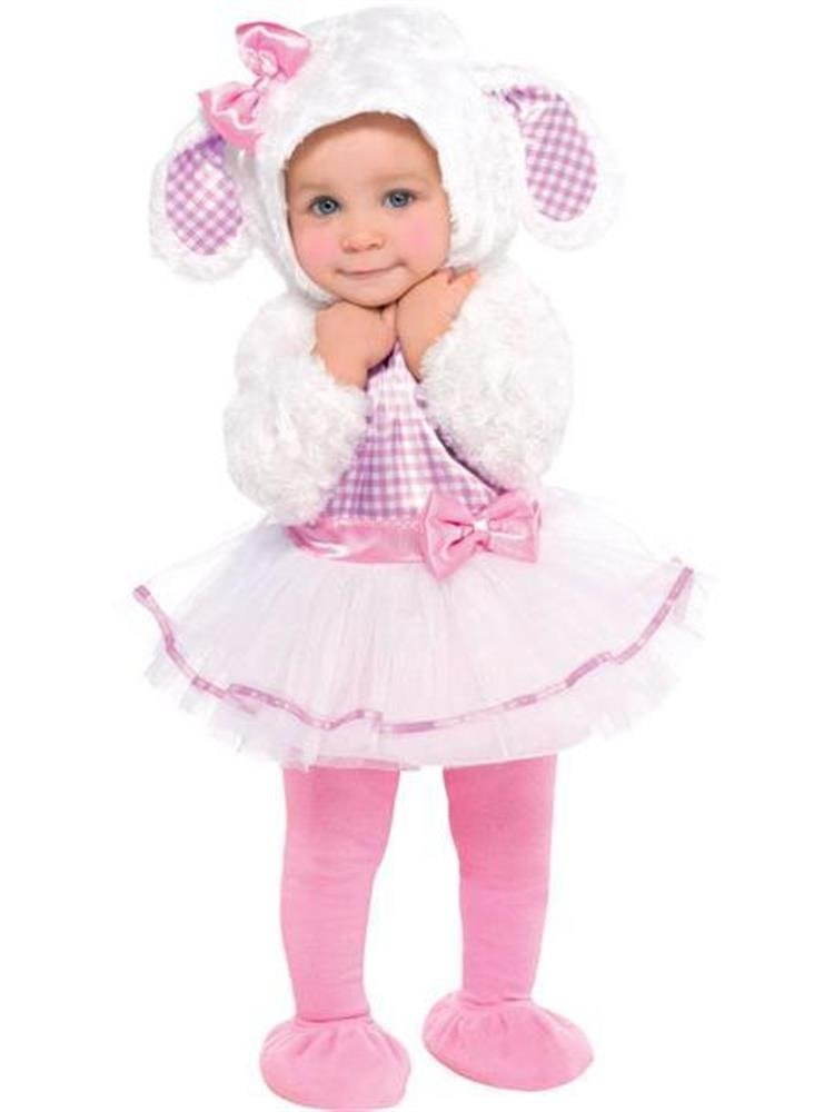 612 months Baby Girls Toddlers Little Lamb Fluffy White Pink Sheep Easter Animal Fancy Dress Costume Outfit 618 Months