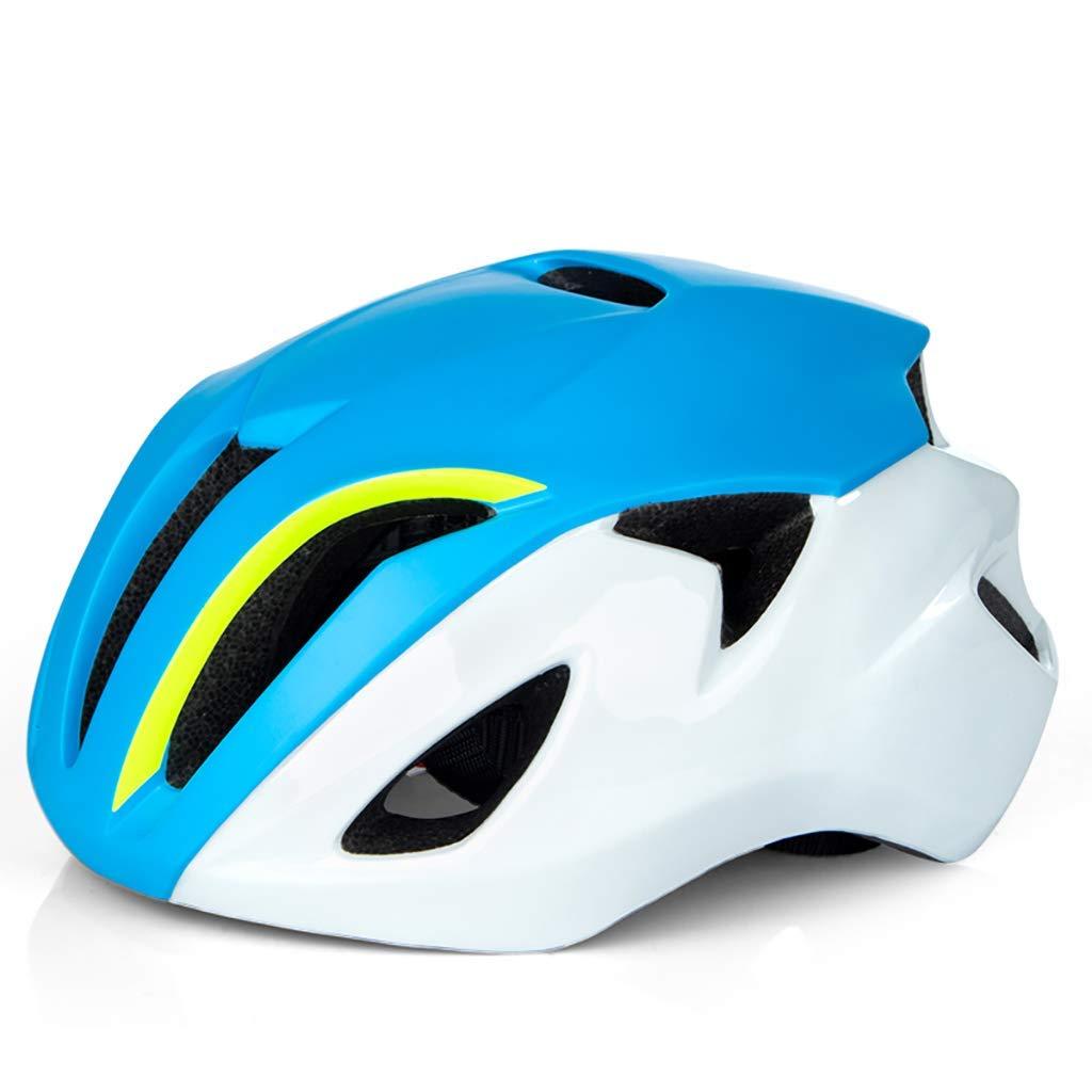 サイクリング自転車用ヘルメット マウンテンバイクのヘルメット、サイクルヘルメット、スポーツ安全保護用ヘルメット スポーツ用保護ヘルメット (色 : 青, サイズ : L(57-61CM)) B07MJFGM6X 青 L(57-61CM)