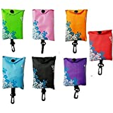 Lunar Baby Reusable Shopping Tote Travel Recycle Bags- Fold-able to Save Space(5 Pieces)-Random Five Colors