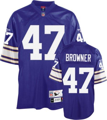 separation shoes b8121 75d48 Amazon.com : Joey Browner Purple Reebok NFL Premier 1990 ...