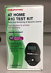 Amazon.com: CVS A1C At Home Test Kit, Home Use Monitoring ...