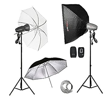 FotoQuantum Studio Flash Kit FQM-500/500Ws Plus (Montura Bowens) con Softbox