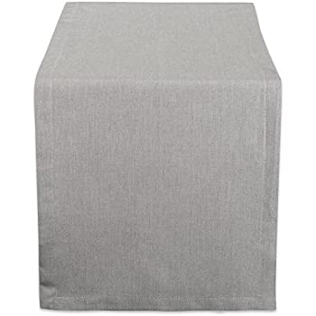 DII CAMZ38723 Solid Chambray, Table Runner 14x72, Chambray Gray