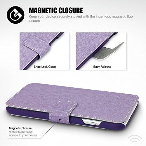 iPhone 7 Cover, Terrapin Cover di Pelle con Funzione di Appoggio Posteriore per iPhone 7 Custodia Pelle, Colore: Porpora