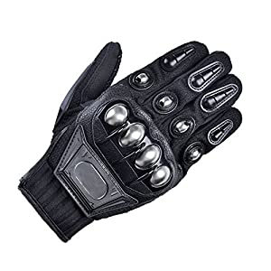 Men's Motorcycle Steel Knuckle Gloves Motorbike Racing Cycling Hunting Shooting Powersports Full Finger Gloves