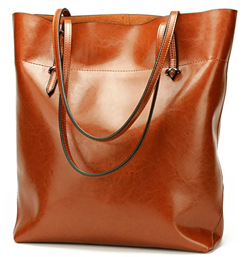 Qzunique Women's Genuine Leather Fashion Simple Style Purse Shoulder Bag Brown Gbd-pg-6447-zongse