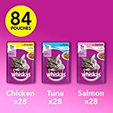 Whiskas Wet Cat Food 84 x 100 g Pouch for 1+ Adult, Mixed Selection in Jelly + Free 10g Whiskas Dentabites Sample Bild 1