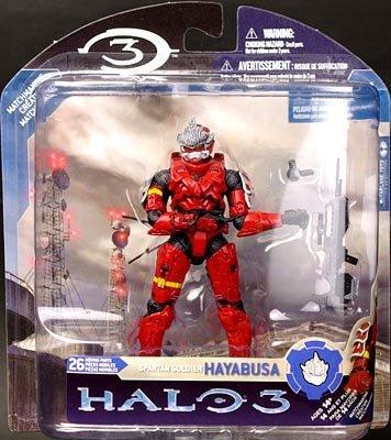 Amazon com: HALO 3 (Halo) Spartan Soldier Hayabusa armor Red