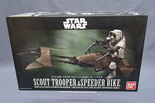 Scout Trooper Model (Star Wars Scout Trooper & Speeder Bike 1/12 scale Model kit Japan NEW)